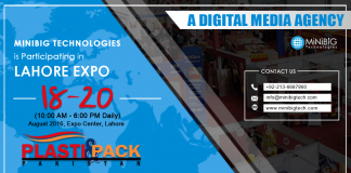 MiniBigTechnologies is Participating in Lahore Expo Center, Pakistan.