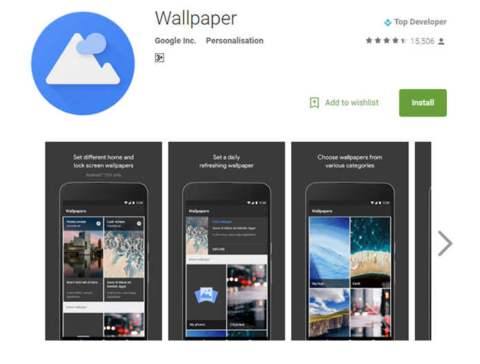 Google Wallpapers App Beats All Apps In The Play Store