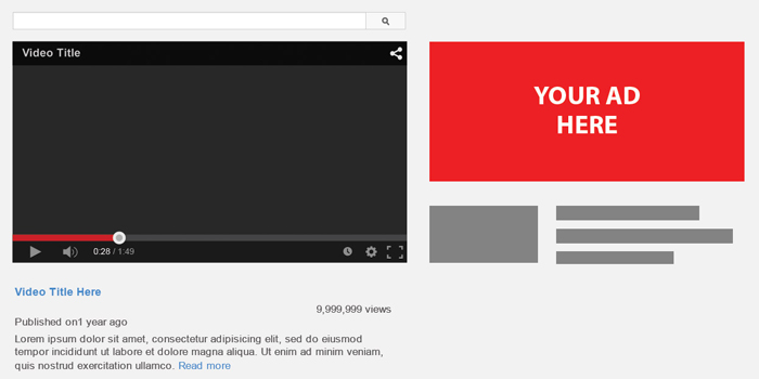 YouTube Display Ads Minibig