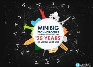 "MiniBig Technologies Celebrating Internaut Day ""25 years"" of World Wide Web."